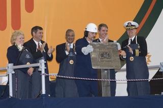 New Mexico submarine keel authentication ceremony participants