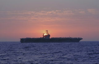 The USS Theodore Roosevelt (CVN 71) is the fourth Nimitz-class carrier built by Northrop Grumman's Newport News sector.