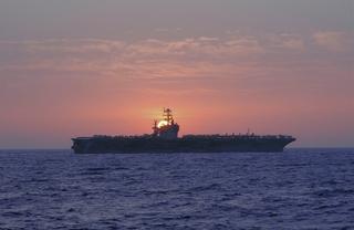 The USS Theodore Roosevelt (CVN 71) is the fourth Nimitz-class carrier built by Northrop Grumman's Newport News sector.