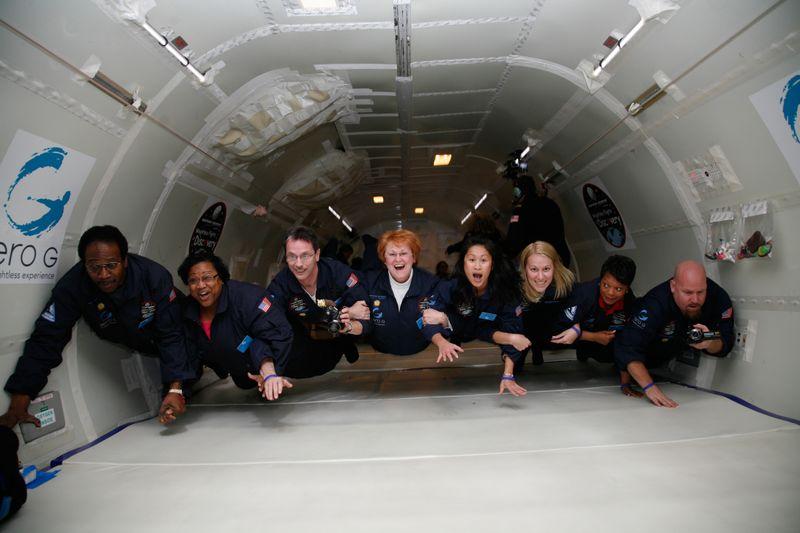 Virginia teachers experienced weightlessness