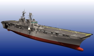 Artist's rendition of the amphibious assault ship, LHA 6