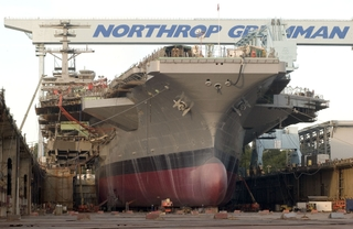 Northrop Grumman used more than 50,000 gallons of paint
