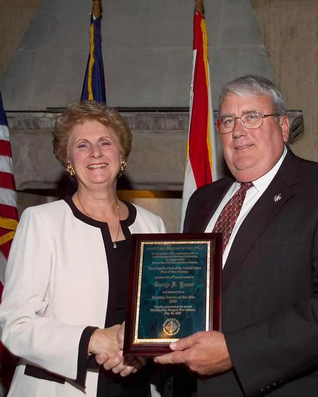 George R. Yount, sector vice president of ship construction for Northrop Grumman's Ship Systems sector, was honored by the U.S. Port of New Orleans Propeller Club as the 2006 Maritime Person of the Year.