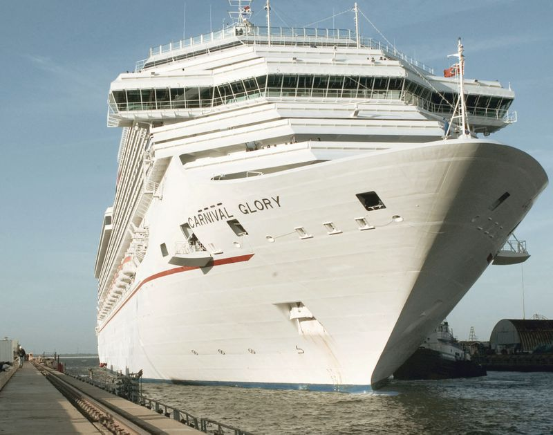 The cruise ship Carnival Glory arrived at Northrop Grumman's Newport News sector