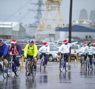 Photo Release -- Northrop Grumman Employees Donate and Raise Awareness for Bikes or Bust Program