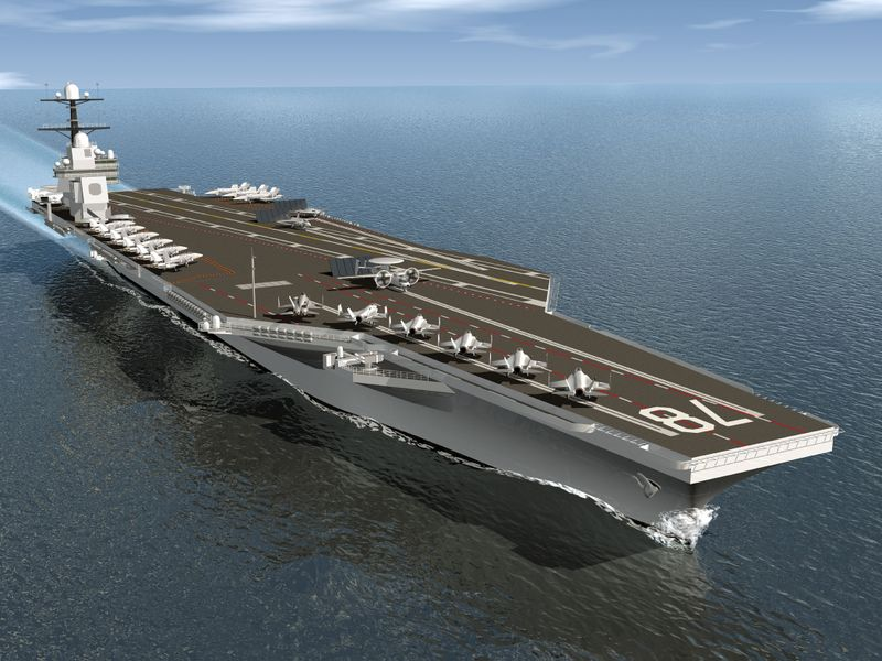 Northrop Grumman's future-generation aircraft carrier, CVN 21.