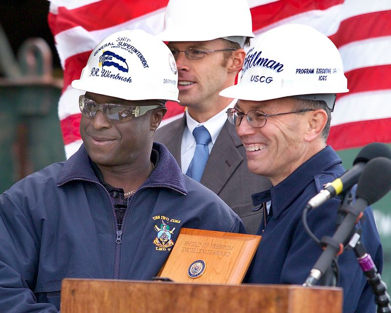Royce Winbush, Northrop Grumman's general ship superintendent for the first National Security Cutter