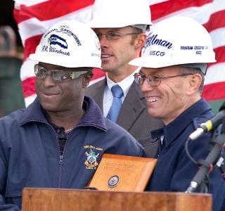 Photo Release -- Northrop Grumman Shipbuilding Team Honored by U.S. Coast Guard for Katrina Recovery Efforts