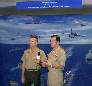 Photo Release -- Chief of Naval Operations and Marine Corps Commandant Hold Press Conference at Northrop Grumman Exhibit at NDIA's Expeditionary Warfare Conference