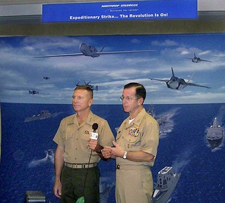 Adm. Michael G. Mullen, chief of Naval Operations, right, and Gen. Michael W. Hagee, commandant of the U.S. Marine Corps