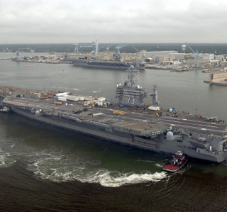 Photo Release -- Northrop Grumman Completes Dry Dock Work for USS George Washington Maintenance Availability