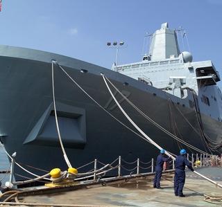 Photo Release -- Crew Moves Aboard Sailor-Friendly Northrop Grumman-Built LPD 17 Amphibious Transport Dock Ship