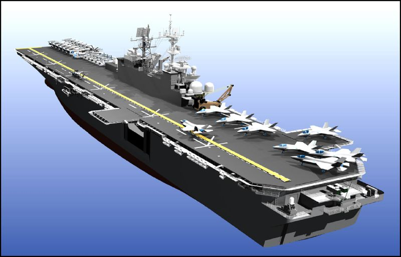 LHA(R) will be the U.S. Navy's newest multifunctional and most versatile, amphibious assault ship