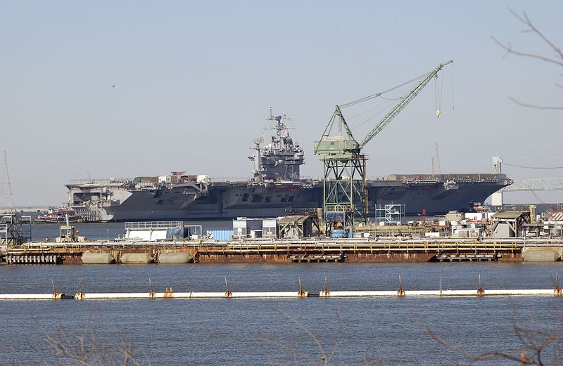The USS George Washington arrived at the Newport News sector on Jan. 28