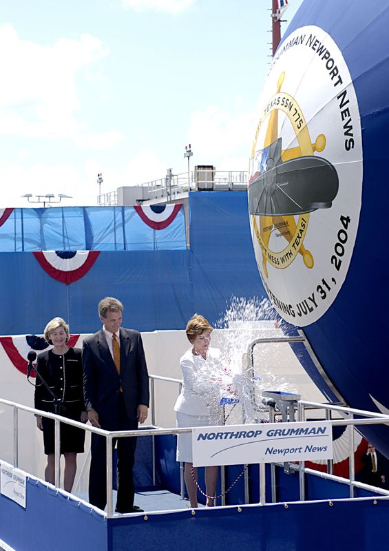 Northrop Grumman Newport News celebrated its first submarine christening in nearly a decade