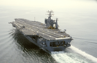 This Nimitz-class aircraft carrier was built by Northrop Grumman Newport News and delivered to the U.S. Navy in 1992.