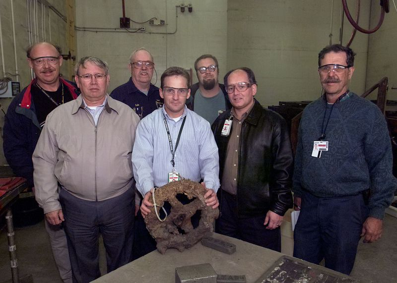 NORTHROP GRUMMAN NEWPORT NEWS EMPLOYEES IDENTIFY MONITOR ARTIFACTS
