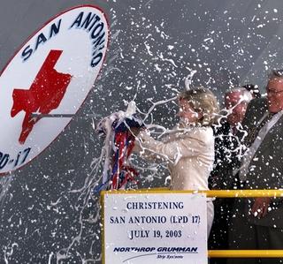 Photo Release -- Northrop Grumman Christens San Antonio (LPD 17)
