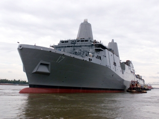 NEWEST NAVY SHIP LAUNCHED - San Antonio (LPD 17)