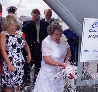 Photo Release -- U.S. Navy's Newest Aegis Destroyer Christened James E. Williams at Northrop Grumman
