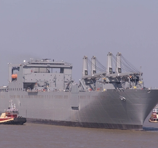 Photo Release -- Northrop Grumman's Seventh Bob Hope-Class Sealift Ship Departs for Sea TrialsShip Named in Honor of Cuero, Texas, Hero Roy P. Benavidez