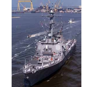 USS Cole Gets Patriotic Send-Off from Northrop Grumman Employees, Local Residents