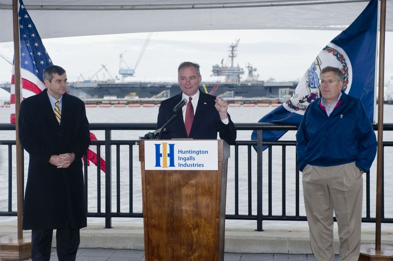 U.S. Sen. Tim Kaine at Newport News Shipbuilding