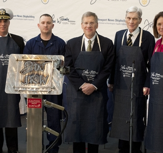 Photo Release -- Newport News Shipbuilding Celebrates Series of Firsts During Keel-Laying Ceremony for John Warner