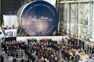 John Warner (SSN 785) Keel-Laying Ceremony
