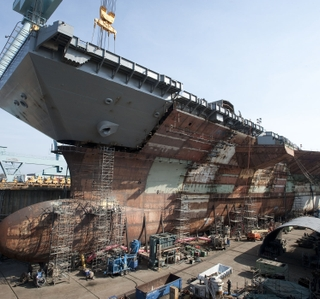 Multimedia Release -- Newport News Shipbuilding Completes Flight Deck on Aircraft Carrier Gerald R. Ford