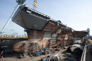 Gerald R. Ford (CVN 78) upper bow lift