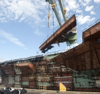 Multimedia Release -- Gerald R. Ford (CVN 78) Aircraft Carrier's Primary Hull Structure Reaches 100 Percent Completion
