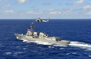 The guided-missile destroyer USS William P. Lawrence (DDG 110)