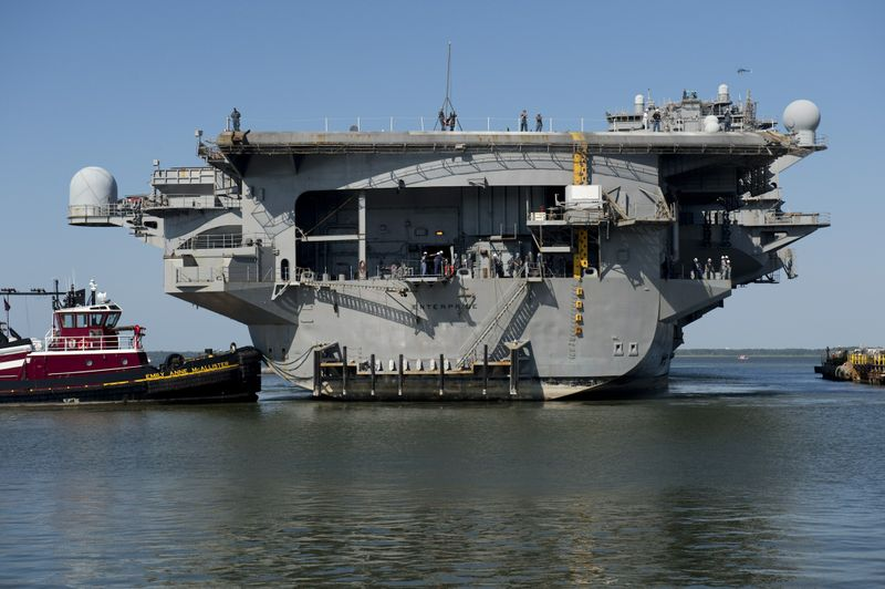USS Enterprise (CVN 65) Arrives at Newport News Shipbuilding