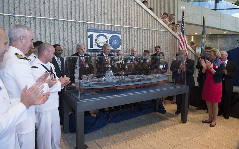 Model of Aircraft Carrier Gerald R. Ford Unveiled