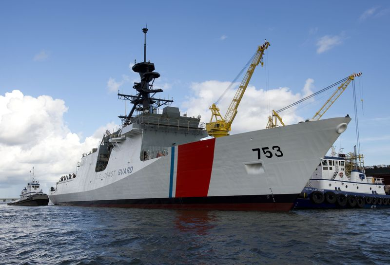 U.S. Coast Guard National Security Cutter, Hamilton (WMSL 753) Launch