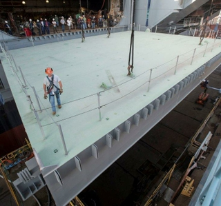 Photo Release -- Final Aircraft Elevator Installed on Gerald R. Ford (CVN 78)