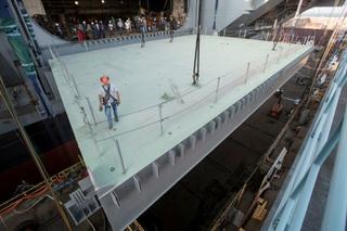 Final Aircraft Elevator Platform Installed