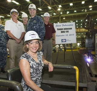 Photo Release -- Ingalls Shipbuilding Starts Fabrication on 30th DDG 51 Destroyer Ralph Johnson (DDG 114)