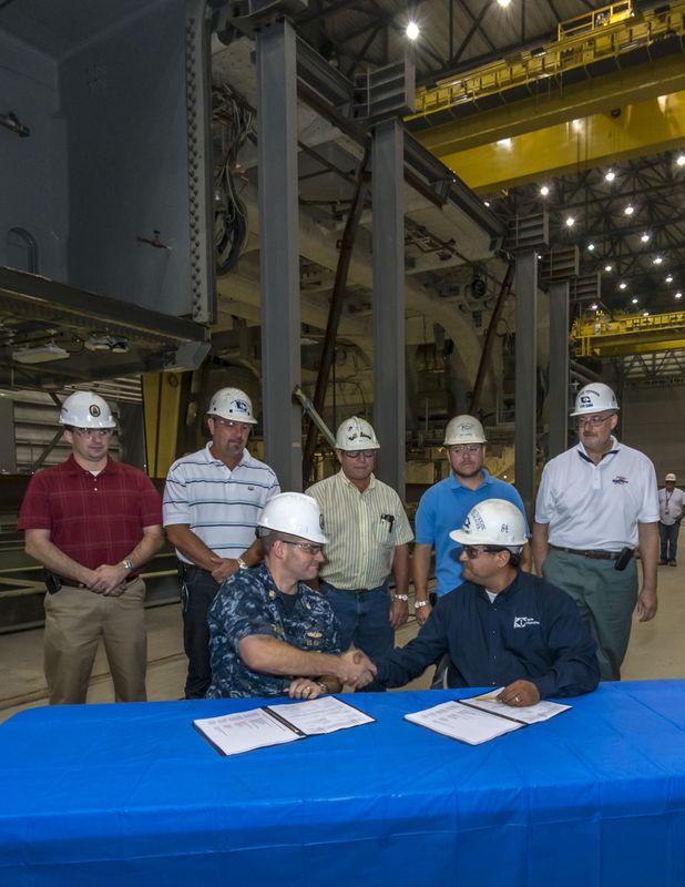 Ingalls Shipbuilding Delivers DDG 1001 Composite Hangar