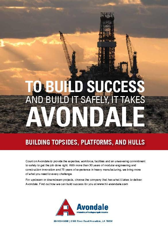 To build Success and Build It Safely, It Takes Avondale