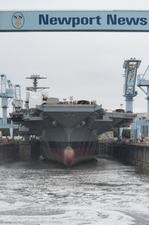 Gerald R. Ford Dry Dock Flooded