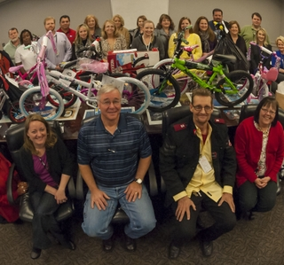 Photo Release -- Ingalls Shipbuilding Employees Adopt 145 Angels in Salvation Army's Holiday Angel Tree Program