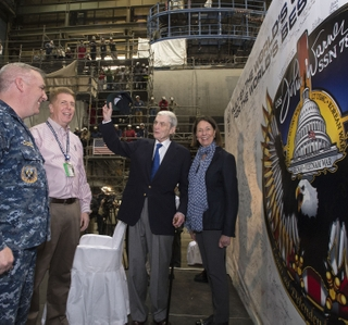 Photo Release --Virginia-Class Submarine John Warner Reaches Pressure Hull Complete Milestone