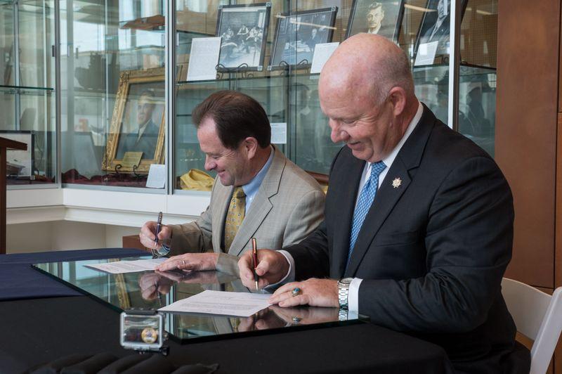 Broderick, Hunley Sign Memorandum of Understanding