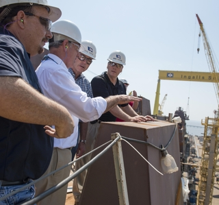 Photo Release -- Reps. Byrne and Palazzo Visit Ingalls Shipbuilding