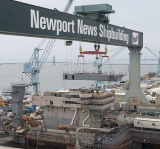 Photo Release -- Newport News Shipbuilding Installs New Upper Level Structure on USS Abraham Lincoln (CVN 72)