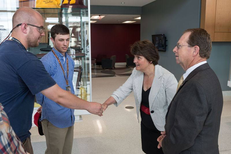 Virginia Secretary of Education Anne Holton Visits The Apprentice School