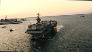 USS Abraham Lincoln Arrives at Newport News Shipbuilding - B-Roll
