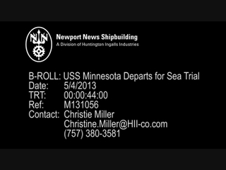 Minnesota (SSN 783) Sea Trials - B-Roll